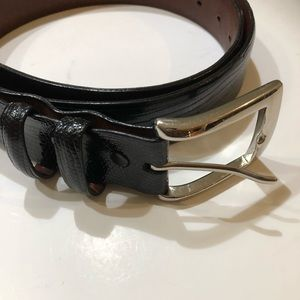 Torino Genuine Lizard Leather Belt Sz 36